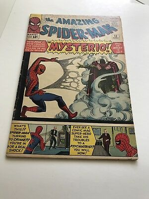 The Amazing Spider-Man #13 ==> Vg/fn 1St Appearance Of Mysterio Marvel 1964