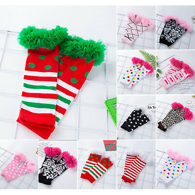 Fashionable Cute Leg Warmers Newborn Baby Girls Footless Lace Warming Long Socks