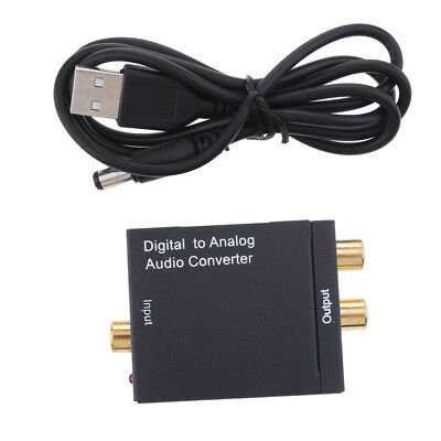 Digital Optical Coax to Analog RCA Audio Converter Adapter+USB Cable