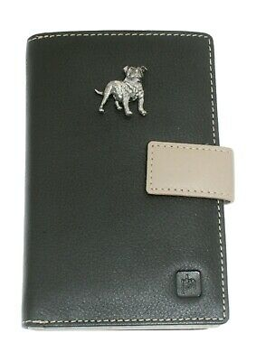 Staffy Staffordshire Bull Leather Purse with Zipped Pocket RFID Safe Ladies  346