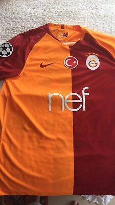 Nike Galatasary 2018/19 Shirt Personalised  Champions League Badge Selçuk Inan