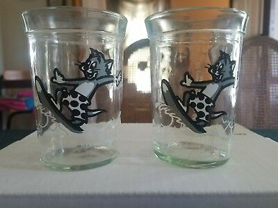 Vintage Tom & Jerry Welch's 1990 Jelly Glasses Jar Surfing