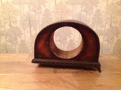 "Antique Vintage  Mantle Clock Case For Repair  8x6x3"" Aperture 3 3/4"" Incl Chime"