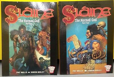 Slaine - The Horned God Parts 1 & 2 Graphic Novels - New