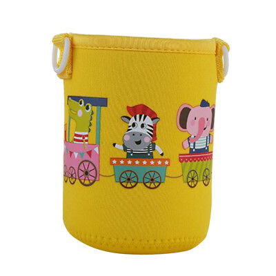 400-600ml Bottle Sleeve Cup Cover Thermal Insulation Yellow Animal for Kid