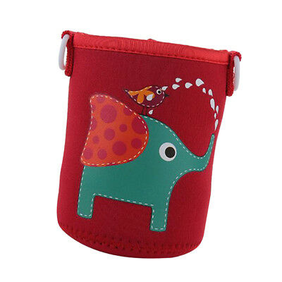 Outdoor Portable Water Bottle Sleeve with Strap Neoprene,Red Elephant