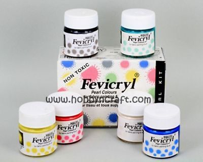 Choose Fevicryl Acylic Colors For Fabric Painting & Art 15ml FREE SHIPPING