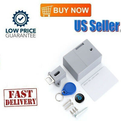 Portable Hidden Drawer Lock RFID Battery Digital DIY Cabinet Without   Hole US