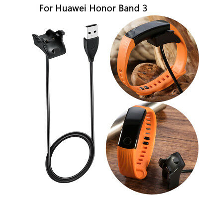 1M USB Charger Data Cradle Charging Cable Black For Huawei Honor Band 3 Durable