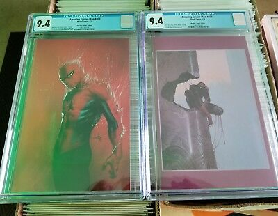 Amazing Spider Man 800 Virgin Variants Moebius Dell'otto Cgc 9.4 Red Goblin