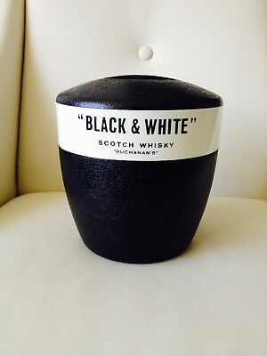 Vintage Black & White Scotch Whisky Ice Bucket Walter Barr Enfield NSW Australia