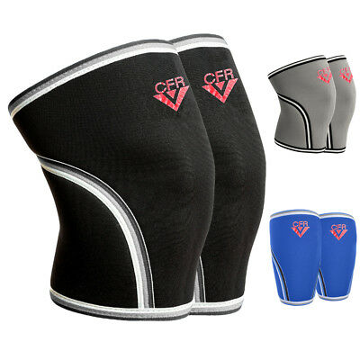 Knee sleeves power weight lifting Squats Patella support brace 5mm PAIR