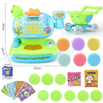 Supermarket Electronic Cash Register Toy Pretend Play Cashier Shopping Cart