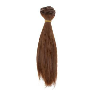 15cm Straight Hair Wig Hairpiece For 1/3 1/4 1/6 Barbie BJD Doll DIY #6