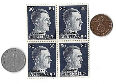 Rare Old German WWII WW2 Germany Coin Ukraine Stamp Great War Collection Lot G30