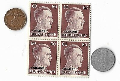 Rare Old WWII WW2 Germany Coin Ukraine Russia Stamp Great War Collection Lot G31