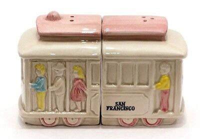 Vintage SNCO Imports - San Francisco Trolley Salt and Pepper Shakers