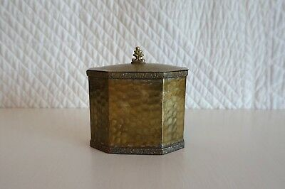 Antique Brass Tea Caddy Lined with Wood