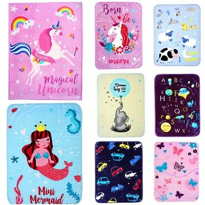 Newborn Baby Blankets Luxury Super Soft Cosy Warm Fleece Blankets For Girls Boys