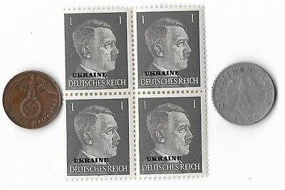 Rare Old WWII WW2 Germany Coin Ukraine Russia Stamp Great War Collection Lot G47