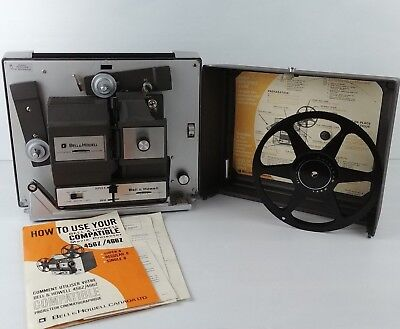 Vintage BELL & HOWELL Model 456Z Super 8 MOVIE PROJECTOR ** 60's RARE