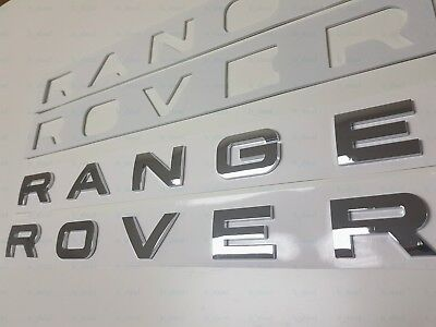 1PC New Range Rover SILVER CHROME LETTERS HOOD TRUNK TAILGATE EMBLEM BADGE
