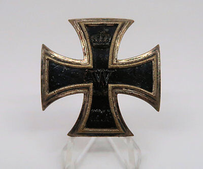 EK1 silver Iron Cross first class pin medal badge Imperial WW1 German 1914 award