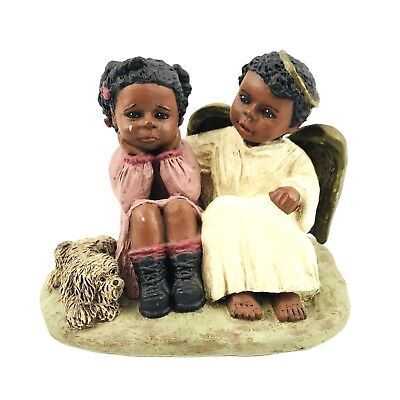 All God's Children Martha Holcombe Resin Black Figurine Michael & Kim 158