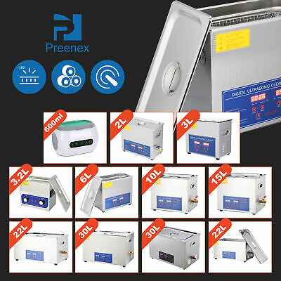 Digital 2-30L Ultrasonic Cleaner Stainless Steel Cleaning Equipment Heater Timer
