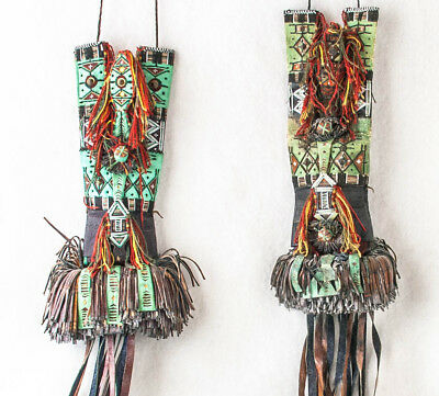 Bag Leather Hand Made Traditional Taureg Enafad-Abalak, Niger 10 X 4 With Fringe