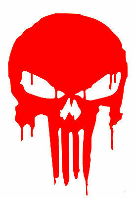 PUNISHER BLOODY SKULL Decal  Sticker  buy 2 get 1 free