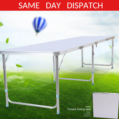 6Ft Folding Trestle Table Picnic/camping/bbq Banquet/party/garden Heavy Duty Uk