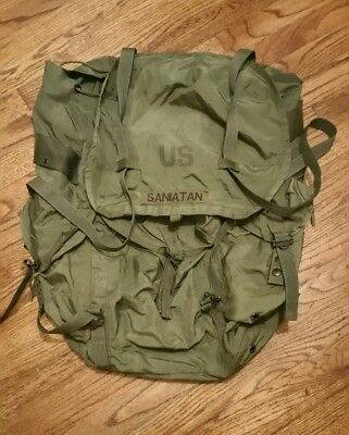 Used Large Combat Field Hunting Pack Alice Rucksack OD green, No Frame Or Straps