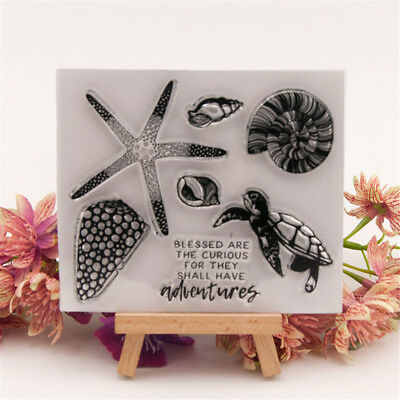 Sea Animal Rubber Clear Stamp Cling Seal Scrapbooking Diary Card DIY Decor Craft