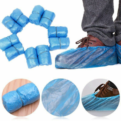 50 PCS Plastic Rain Waterproof Disposable Shoe Covers Overshoes Boot Covers US