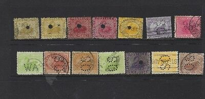 Western Australia Official Lot Punctures 0.s. W.a. Some Rare