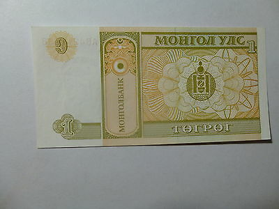 Mongolia Paper Money Currency - No Date 1 Togrog - Crisp Uncirculated