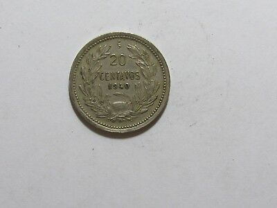 Old Chile Coin - 1940 20 Centavos - Circulated