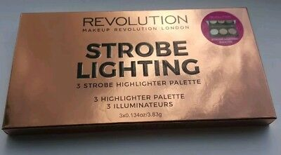 Makeup revolution strobe lighting palette highlighter trio *SAME DAY DISPATCH*