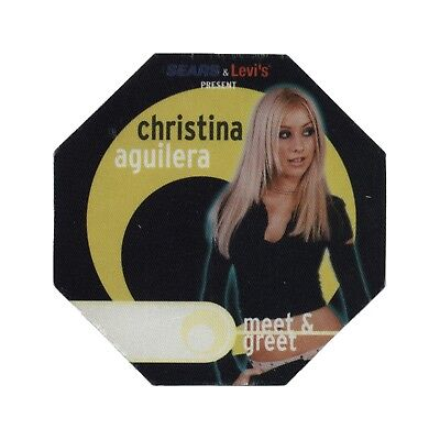 Christina Aguilera authentic Meet & Greet 2000 tour Backstage Pass