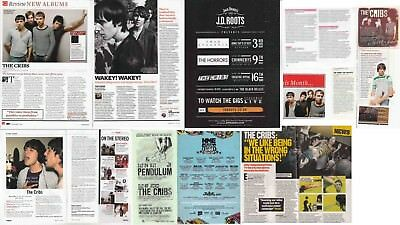 THE CRIBS : CUTTINGS COLLECTION -interviews adverts-