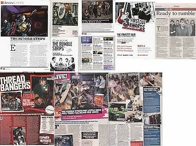 THE RUMBLE STRIPS : CUTTINGS COLLECTION -adverts interviews-