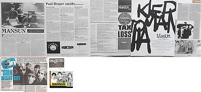 MANSUN : CUTTINGS COLLECTION -interviews adverts-