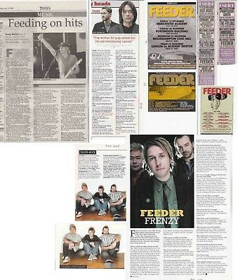 FEEDER : CUTTINGS COLLECTION -adverts interviews-