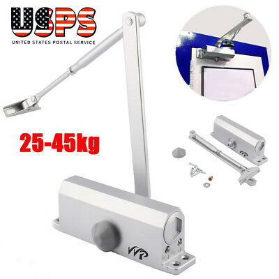 25-45KG Aluminum Commercial Door Closer Two Independent Valves Control Sweep