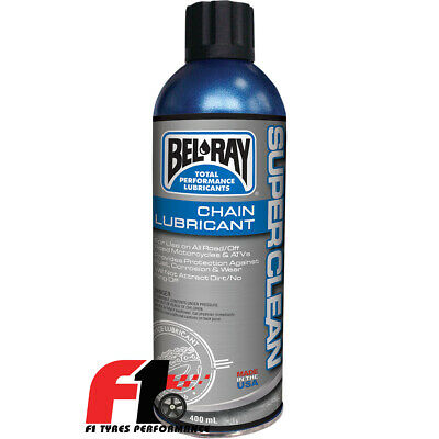 Bel-Ray Super Clean Chain Lube Lubrificante Grasso Catena 100% Sintetico 400 ml