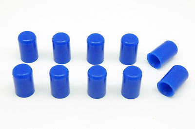 "10pcs BLUE Silicone Caps ID 6mm 1/4"" Vacuum End Plug Tube Cover by AUTOBAHN88"