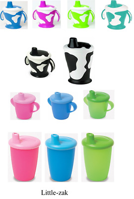 Haberman Anyway Up Cup Sippy Beaker Cow / Classic  No Spill Leak Proof Handles