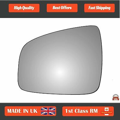 Left Passenger Convex Wing Mirror Glass for Dacia Sandero 2007-2018 364LS