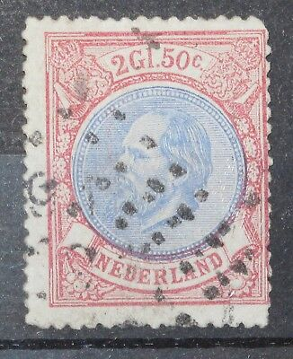 Netherlands 1872-1888 NVPH # 29 2.5G PLATE ERROR Used, Signed, LHR